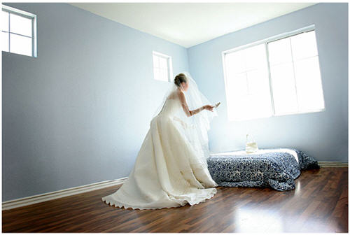 Blue room with bride - josef isayo photography