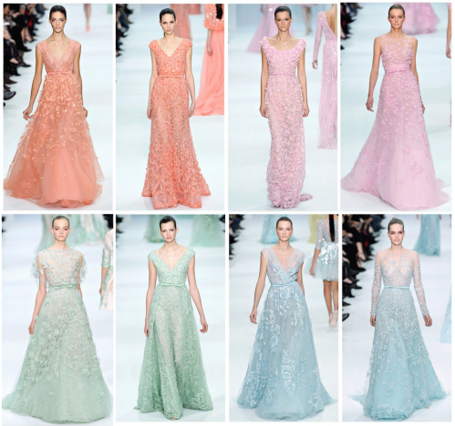 elie saab pastel gowns blog